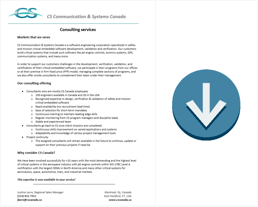 consulting services brochure download