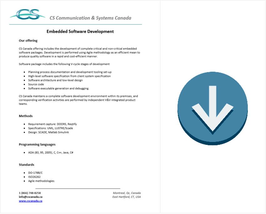 embedded software development brochure download