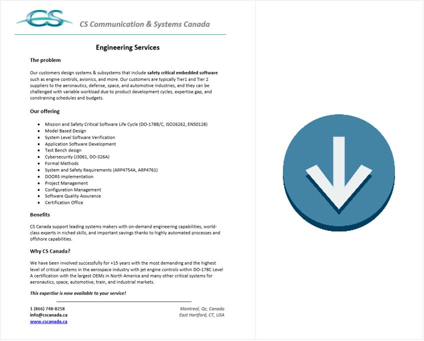 engineering services brochure download