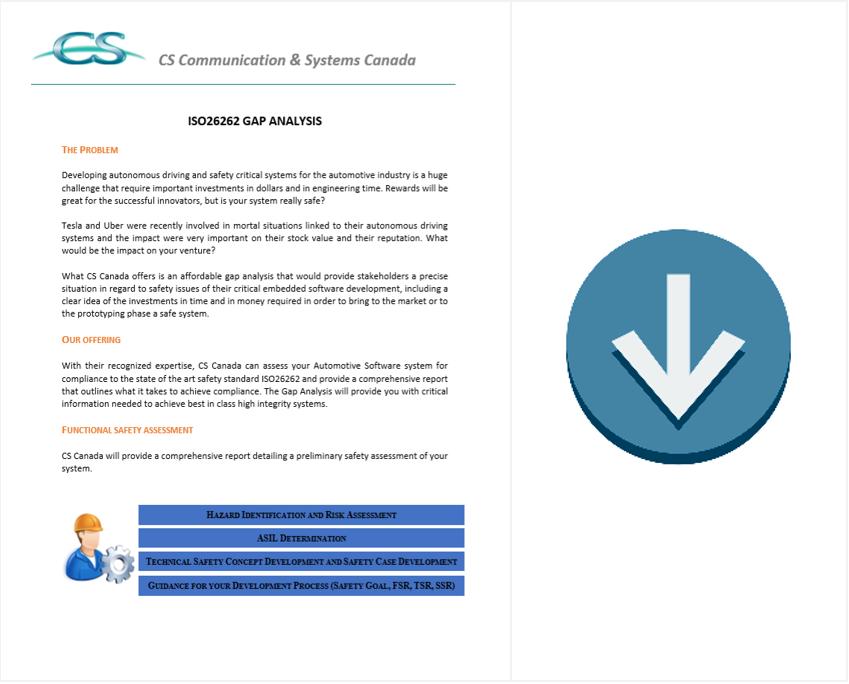 ISO 26262 gap analysis brochure